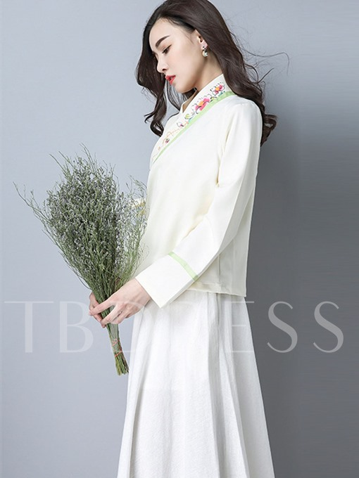 Chinese Style Improved Han Fu Women's Skirt Suit