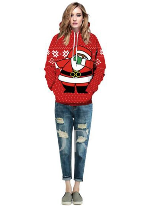 Funny Hooded Pocket Women's Ugly Christmas Hoodie