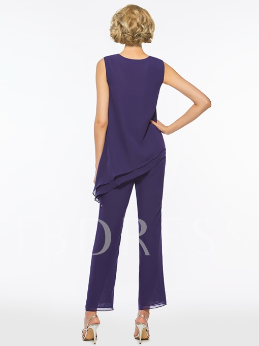 Straps Mother of the Bride Jumpsuit with Half Sleeves Jacket