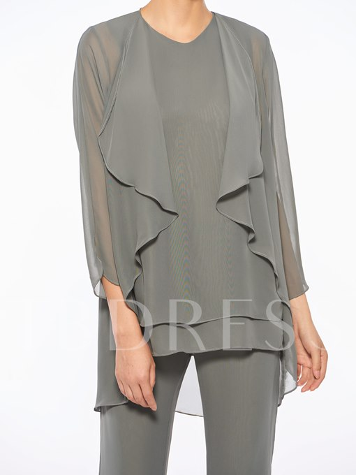 Straps Mother of the Bride Jumpsuit with Jacket