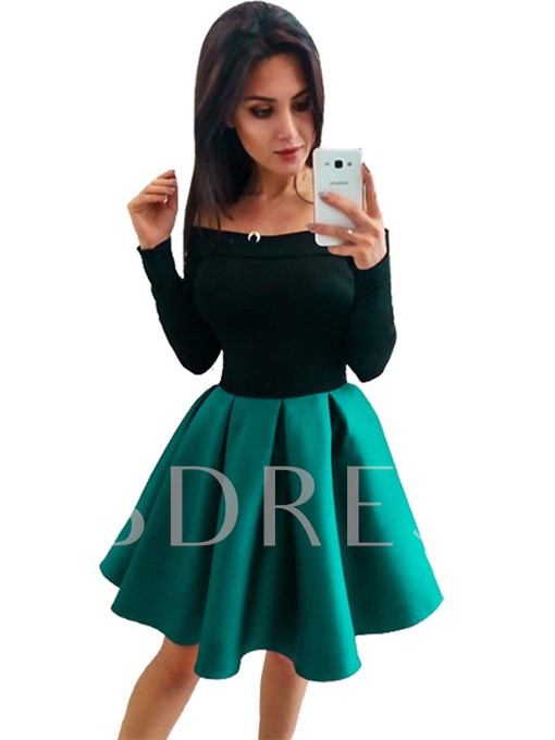 Off SHoulder Ruffled Women's Day Dress