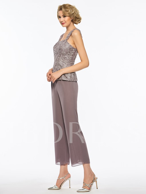 Straps Lace Mother of the Bride Jumpsuit with Jacket