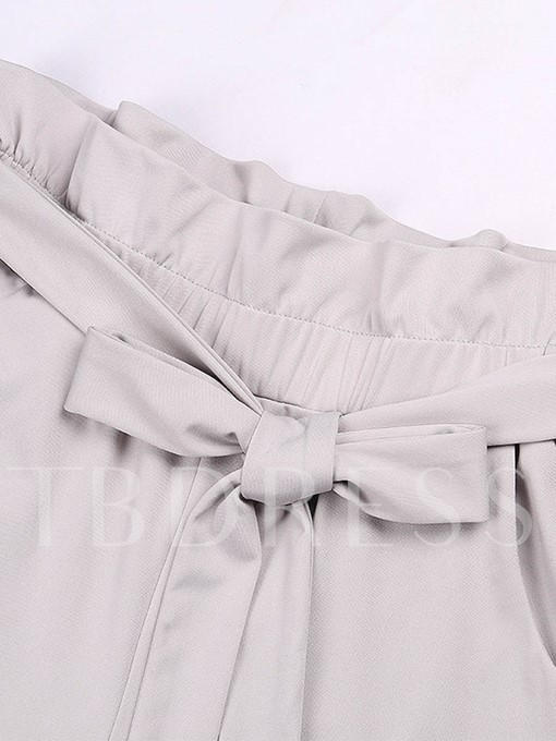 Loose Lace-Up Side Stripe Print Women's Casual Pants