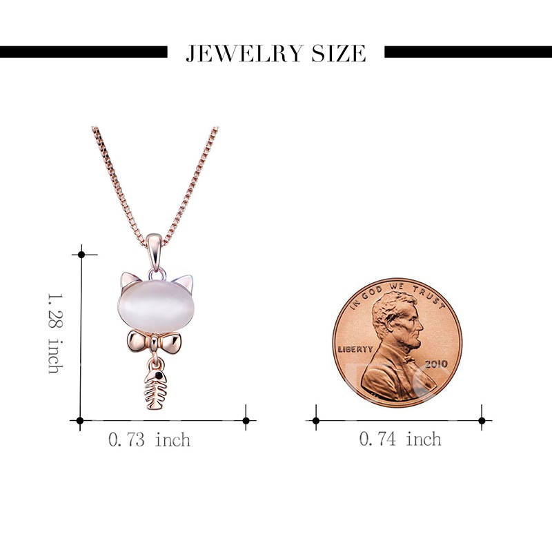 Fishbone Kitty Alloy Box Chian Bowknot Jewelry Sets