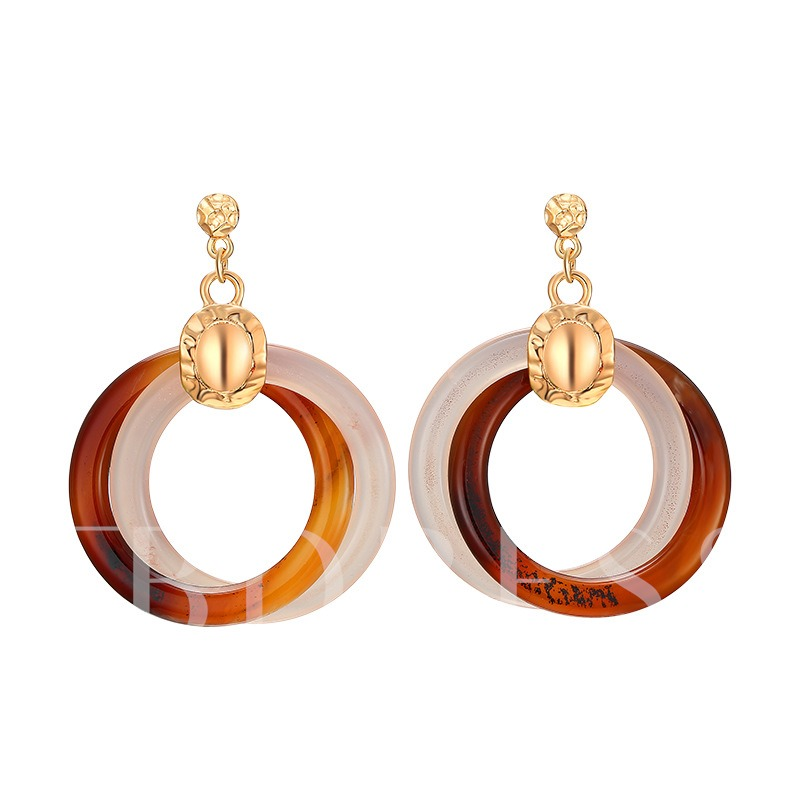 Hollow Out Great Circle Alloy European Earrings