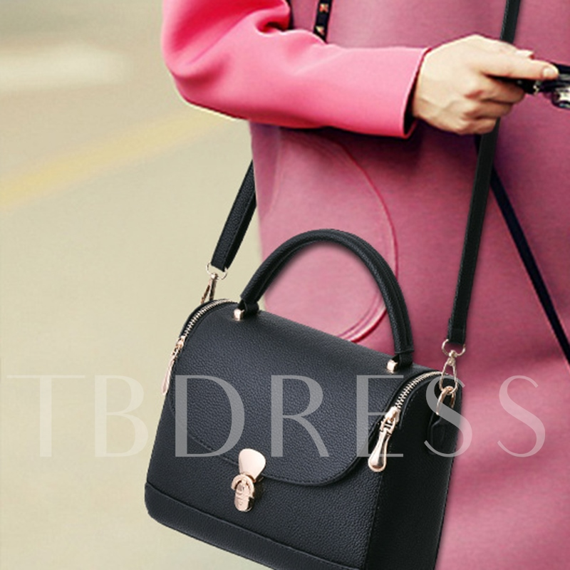 Classic Embossing Solid Color Tote Bag
