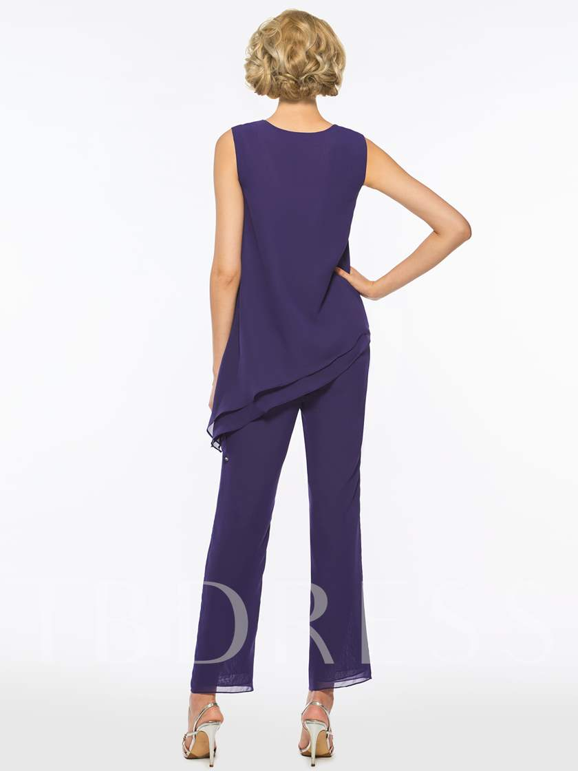 Loose 3 Pieces Mother of the Bride Pantsuits with Jacket
