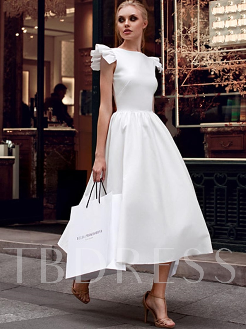 c696a21637a White Falbala Ruffled Women s Maxi Dress - Tbdress.com