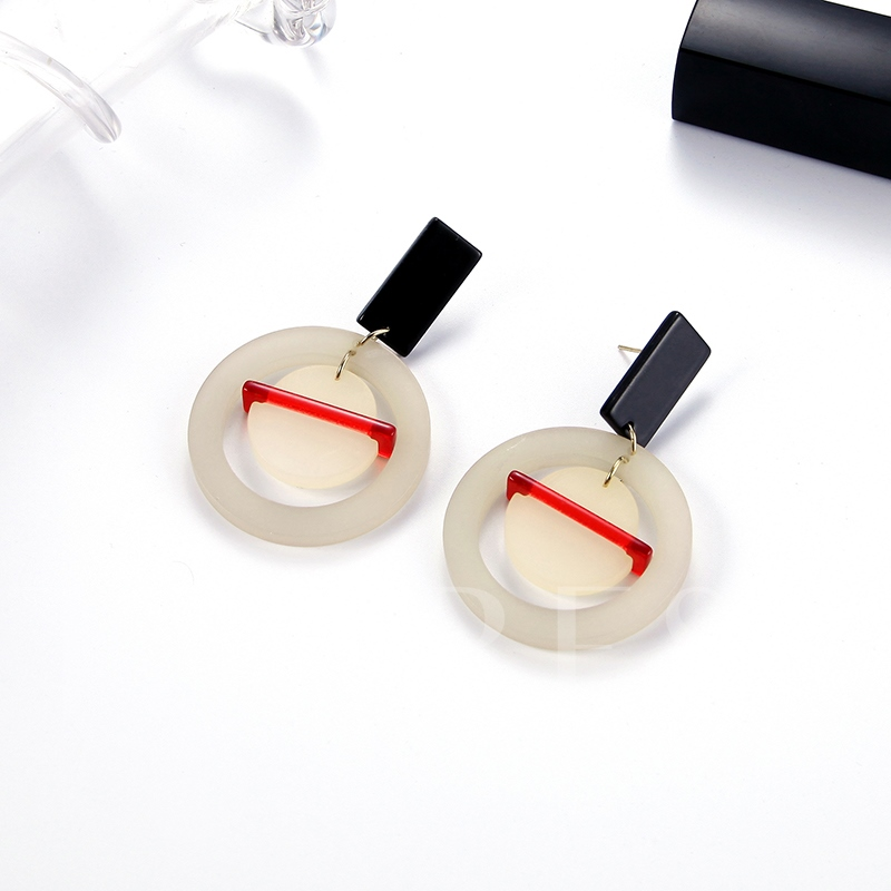 Punk Round Personalized Hot Sale Acrylic Earrings
