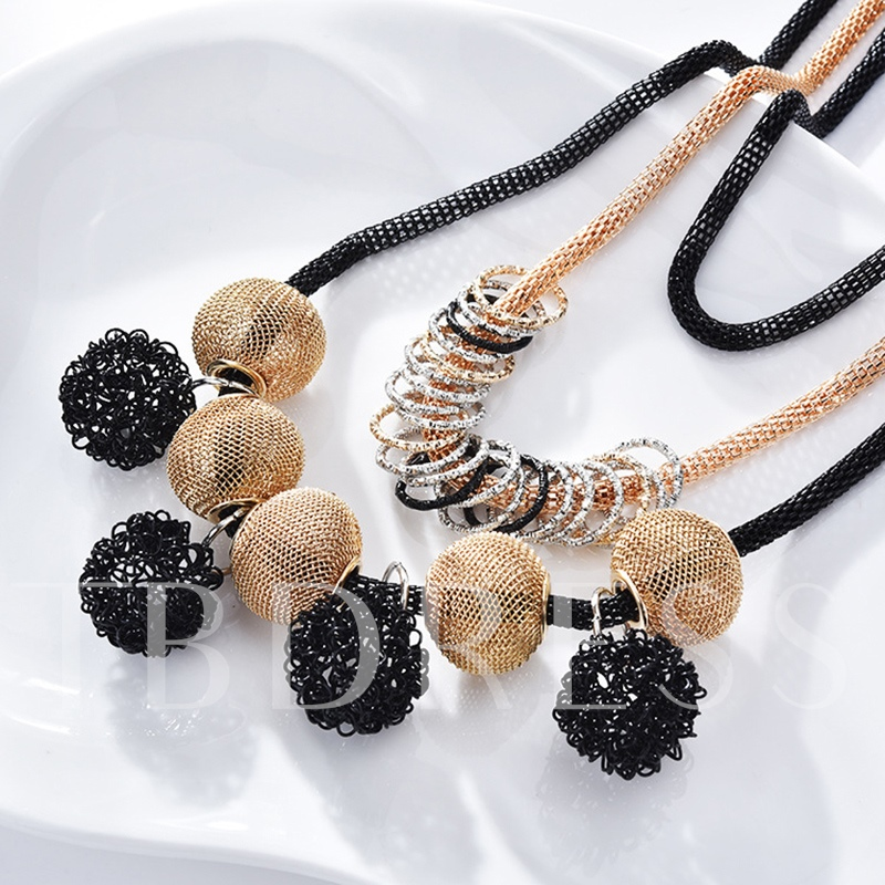 Unique Punk Metal Ball Multilayer Necklace