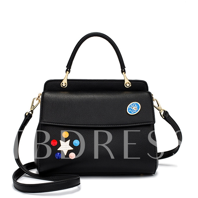 Korean Style Rivet Adornment Women Cross Body