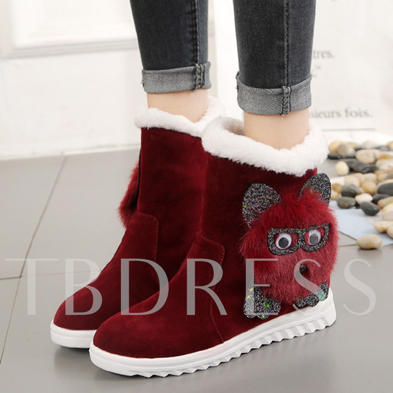 Cute Snow Boots Platform Plush Warm Shoes for Winter