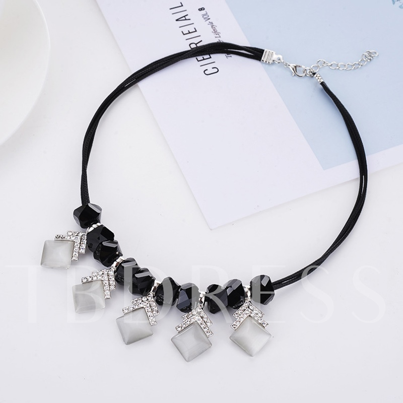 Heart & Fish Design PU Rope Alloy Necklace