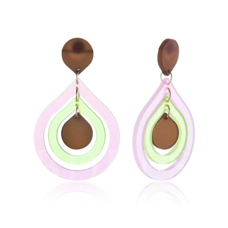 Candy Color Hollow Out Acrylic Earrings