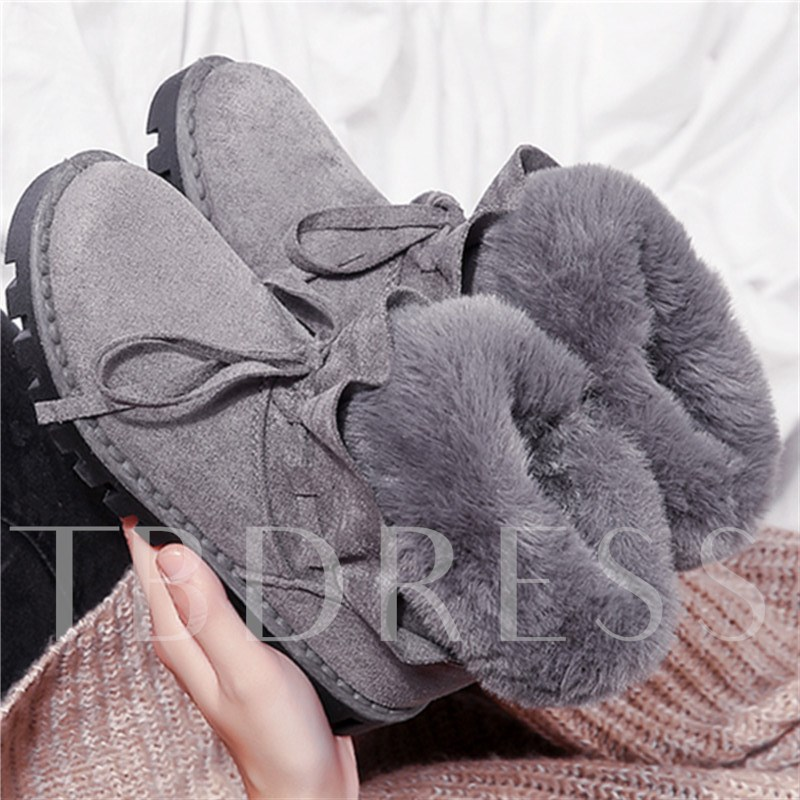 Non Slip Shoes for Winter Warm Plush Lace Up Boots