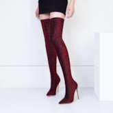 Sequin Stretch Boots Multiple Color Thigh High Boots for Women