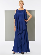A-Line Straps Beaded Floor-Length Evening Dress