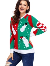 Ugly Christmas Sweater Women's Xmas Patchwork Sweater