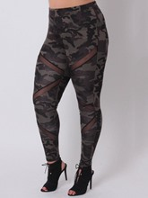 Camouflage Plus Size Patchwork Women's Leggings
