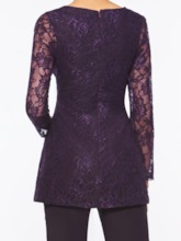 Long Sleeves 2 Pieces Lace Mother of the Bride Pantsuits