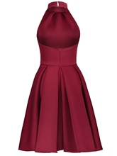 Date Red Halter Women's Day Dress