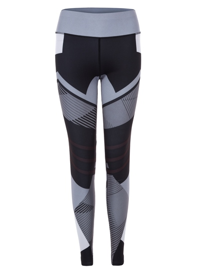 Color Block Geometric Pattern Women's Leggings