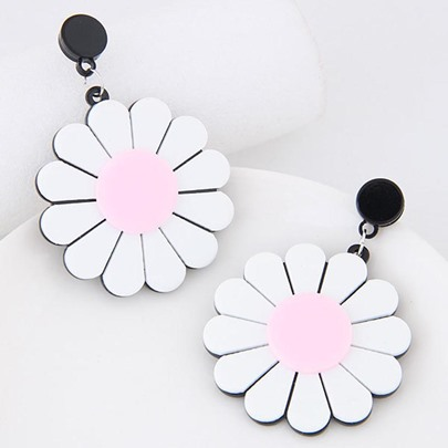 Simple Sunflower Alloy Hyperbole Earrings
