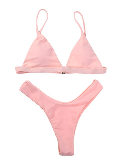 Sexy Plain Triangle Bikini Set
