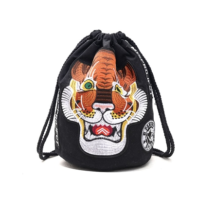 Personality Tiger Pattern String Shoulder Bag