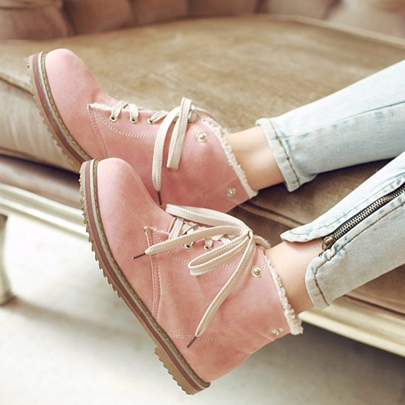 Removable Wool Collar Warm Winter Boots for Women( Plus Size Available)