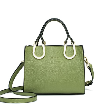 Ladylike Solid Color Zipper Female Tote