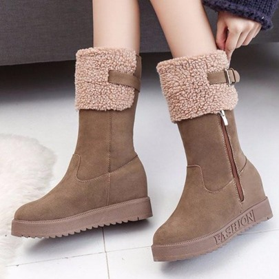 Height Increase Platform Plush Snow Boots