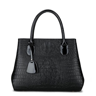 Occident Style Croco-Embossed Women Satchel