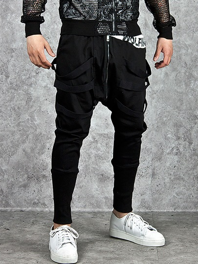 Solid Color Casual Men's Harem Pants