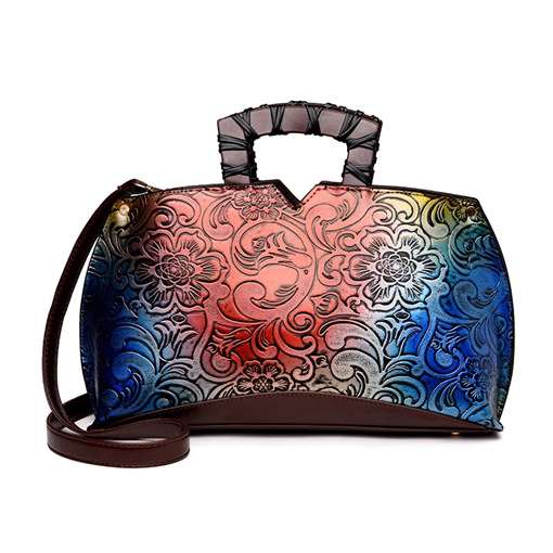 Chinese Style Vintage Floral Pattern Women Tote