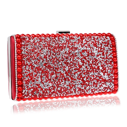 Luxury Dazzling Solid Color Evening Clutch