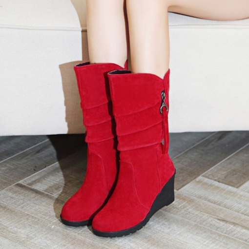 Slip On Wedge Heel Boots for Women(Plus Size Available)