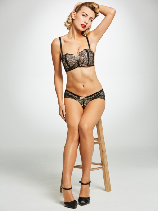 Free Wire Half Cup Lace Bra Set