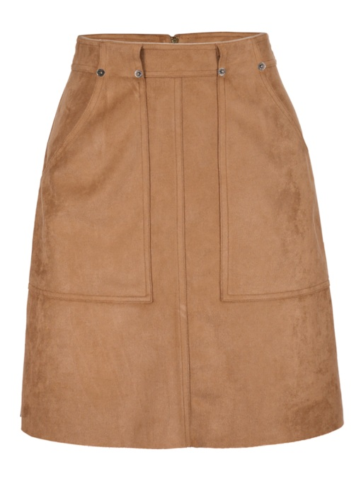 Plain A Line Pocket Women's Skirt