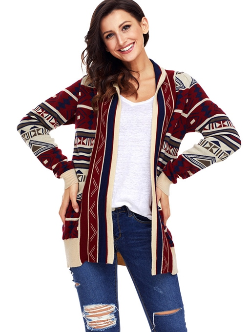 Fashion Mid Long Open Front Women's Thick Cardigan Sweater