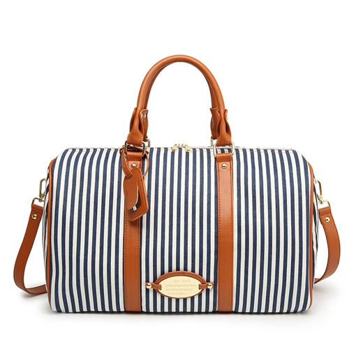 Occident Style Vertical Stripes Women Tote