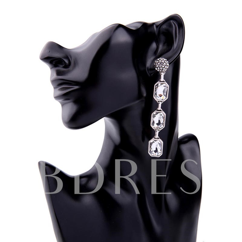 Full Drill Ball Rhinestone Alloy Personalized Earrings