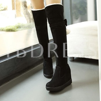 Height Increase Shoes Plush Turn Calf Women's Winter Boots
