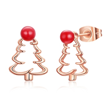 Christmas Tree Hollow Out Alloy Simple Earrings