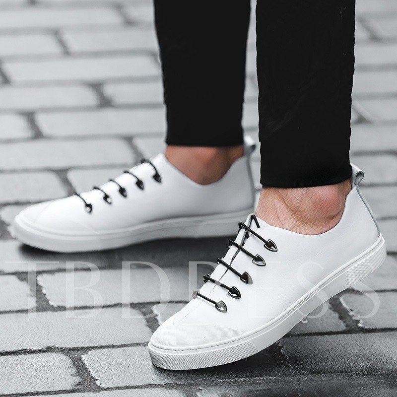 Elastic Band Solid Color Men's Simple Skaters