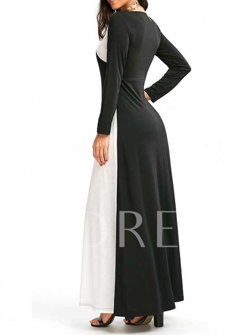 Long Sleeve Split Women's Maxi Dress