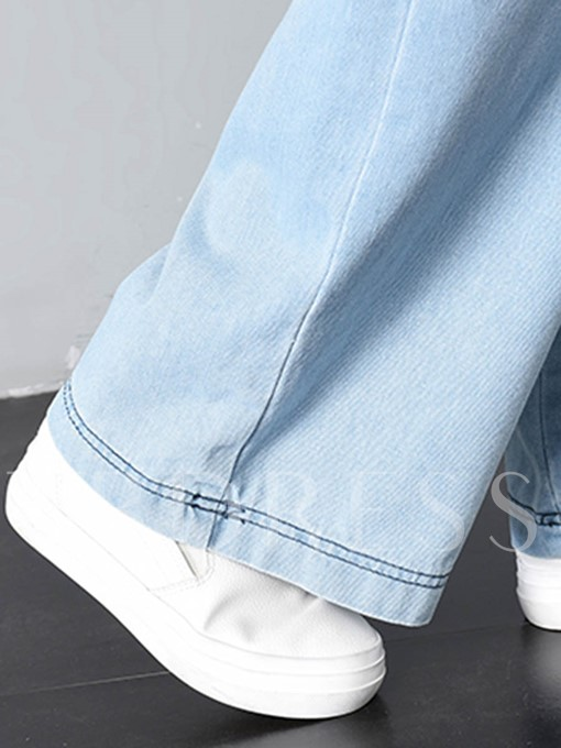 Straight High Waisted Wide Legs Women's Jeans