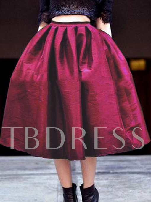 Elegant Plus Size Expansion Pleated Women's Skirt