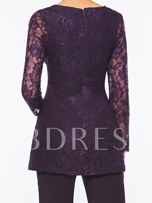 Lace Long Sleeves Mother of the Bride Jumpsuit