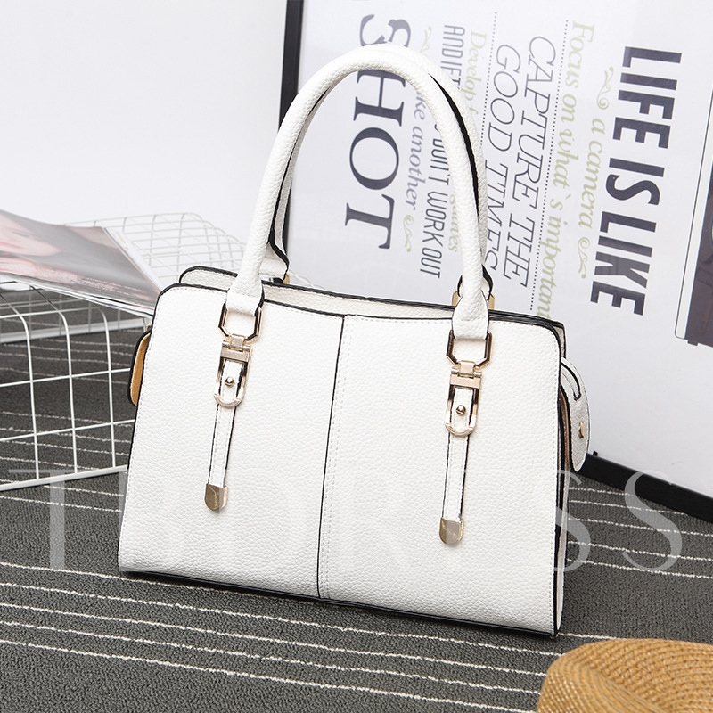 Occident Style Solid Color Women Tote